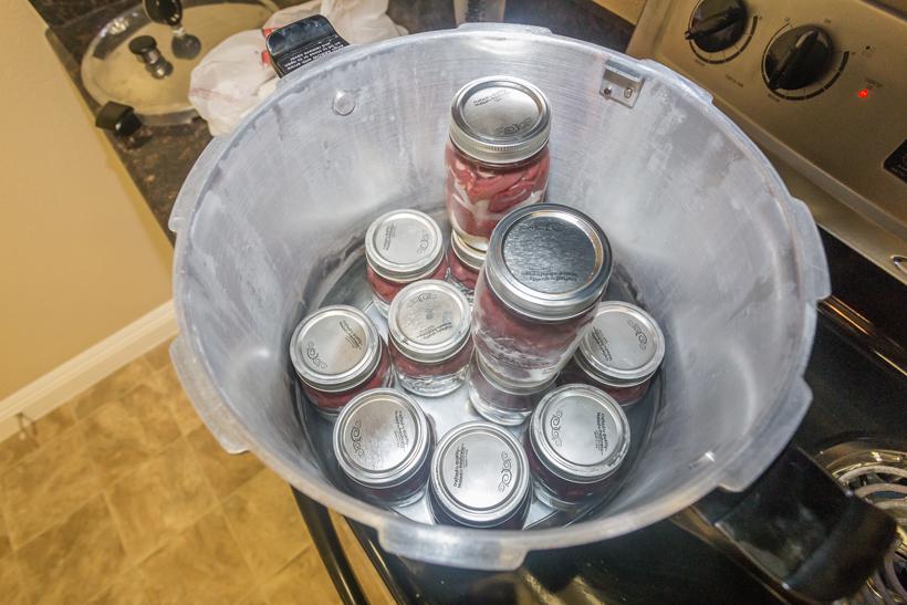 Jars in pressure cooker
