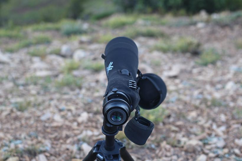 Spotting scope glassing