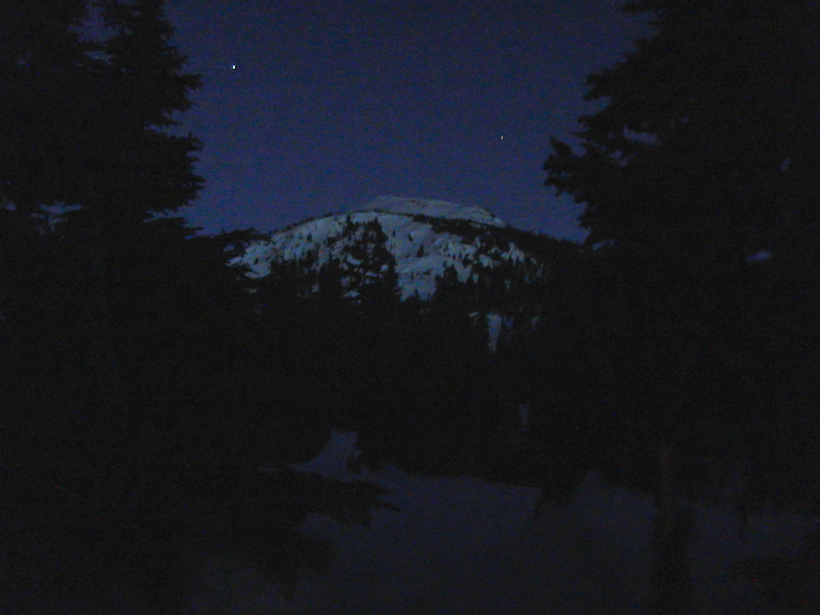 Hiking out in the dark