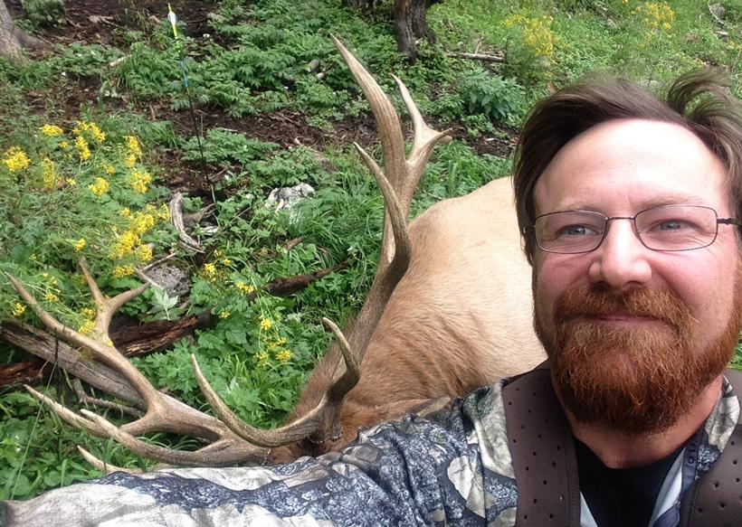 Aaron Purdy hunting elk selfie