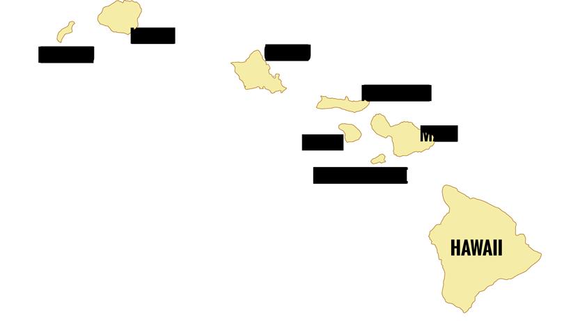 All eight of the Hawaiian islands