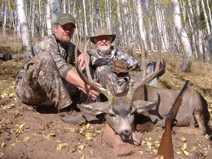 Brandon and his dad's mule deer buck