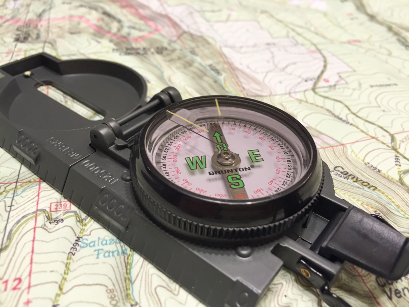 Brunton compass for hunting