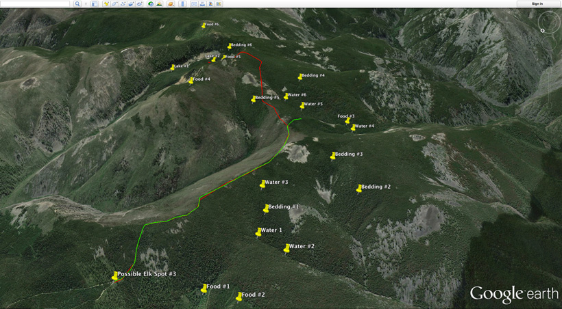Completed Google Earth scouting for elk