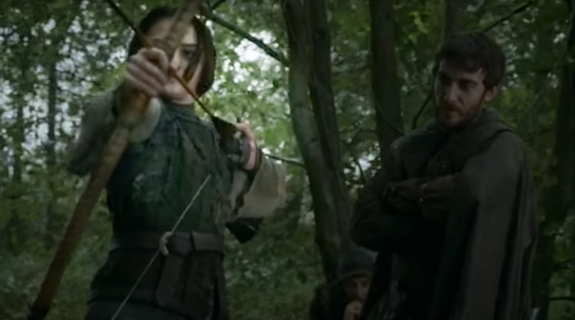 Arya can shoot, but her form is lacking
