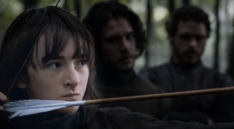 Bran overdrawing the bow