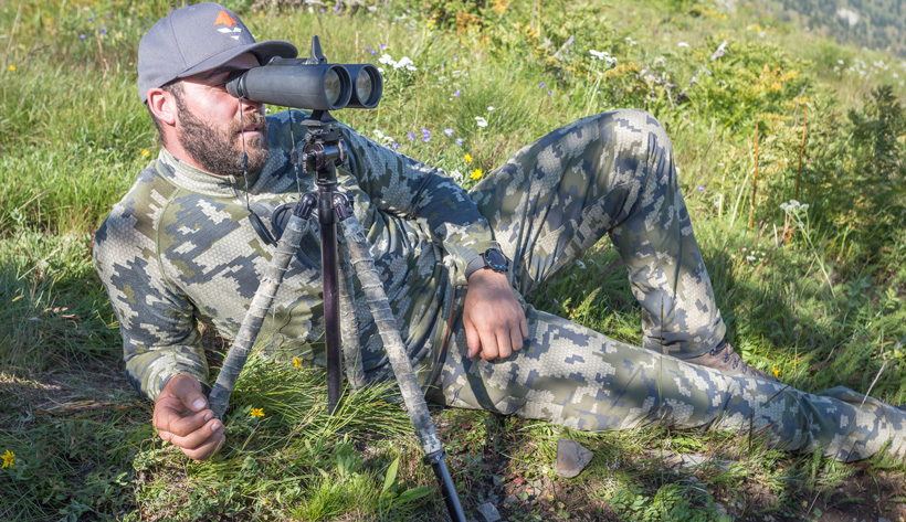Glassing with Outdoorsmans tripod and tripod head