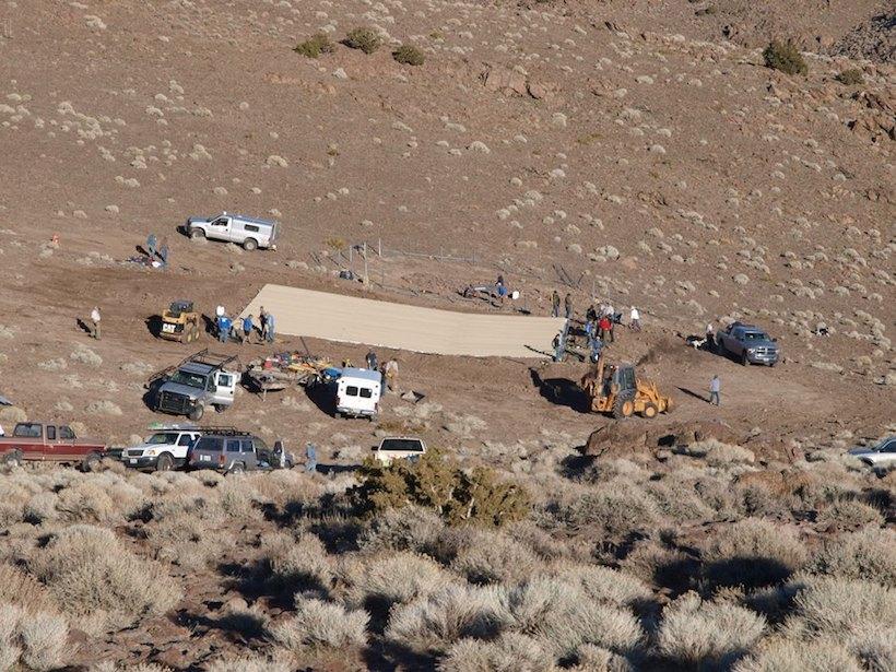 Nevada Bighorns Unlimited constructing a guzzler