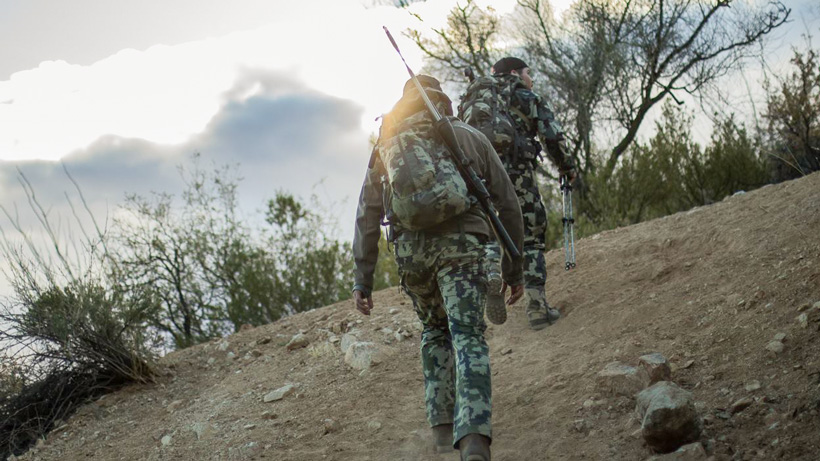 Putting on a stalk for a Coues deer