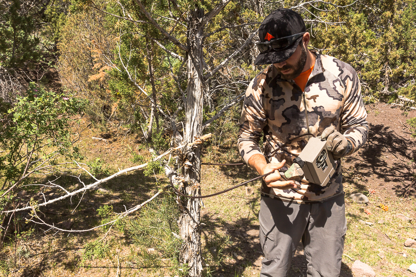 Setting a trail camera