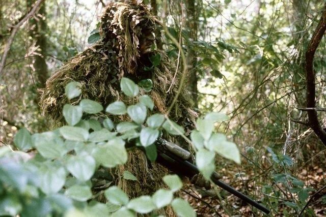 Marine sniper ghillie suit