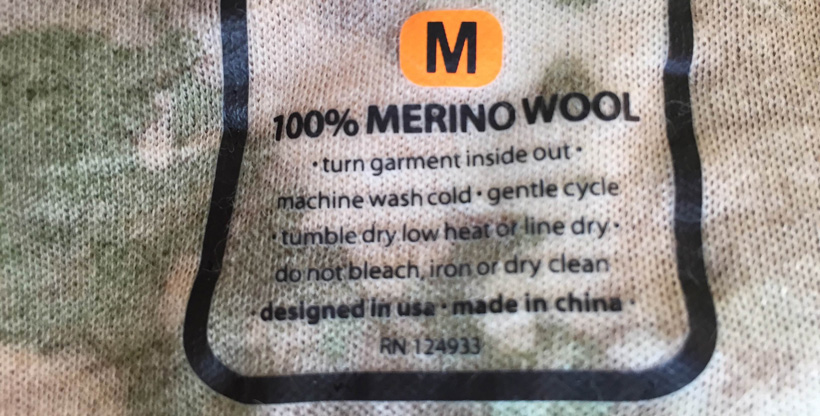 Merino wool for hunting