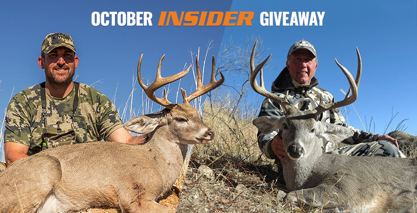 October INSIDER Coues deer hunt giveaway