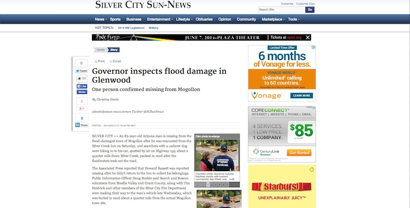 Flooding in the news