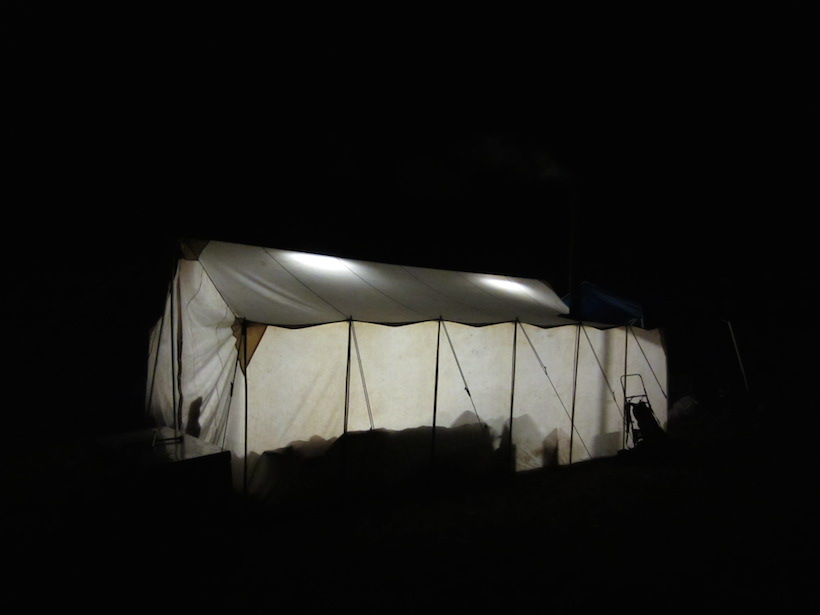 Wall tent camp