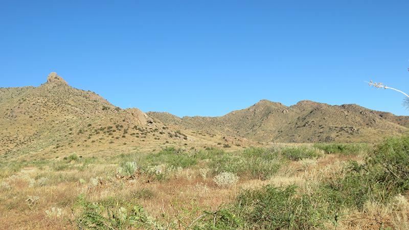 Glassing in rugged terrain