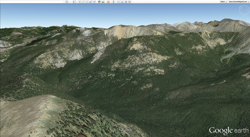Scouting for elk hunting locations on Google Earth