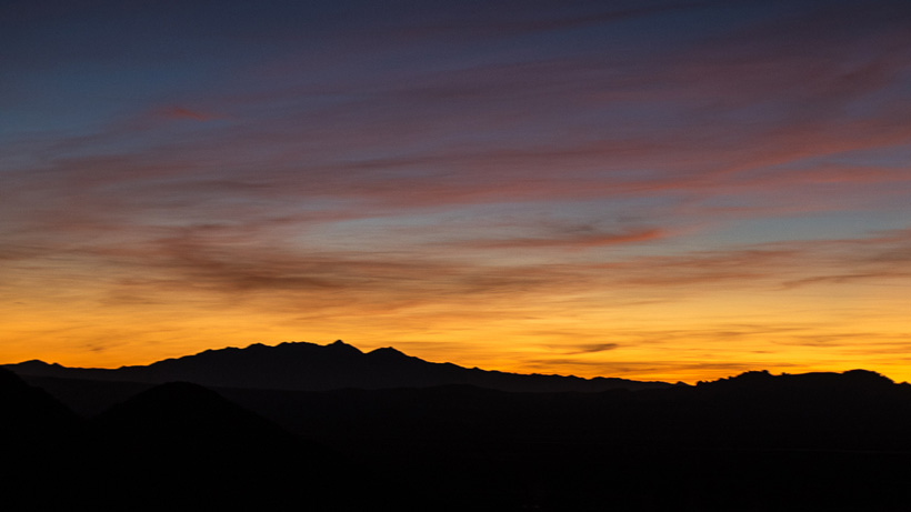 Sunset during an Arizona Coues deer hunt