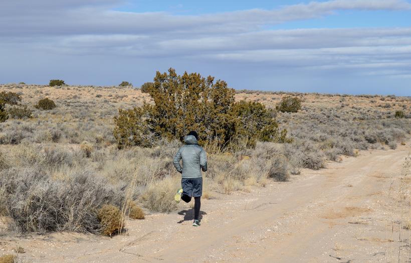 Training to run a half marathon race