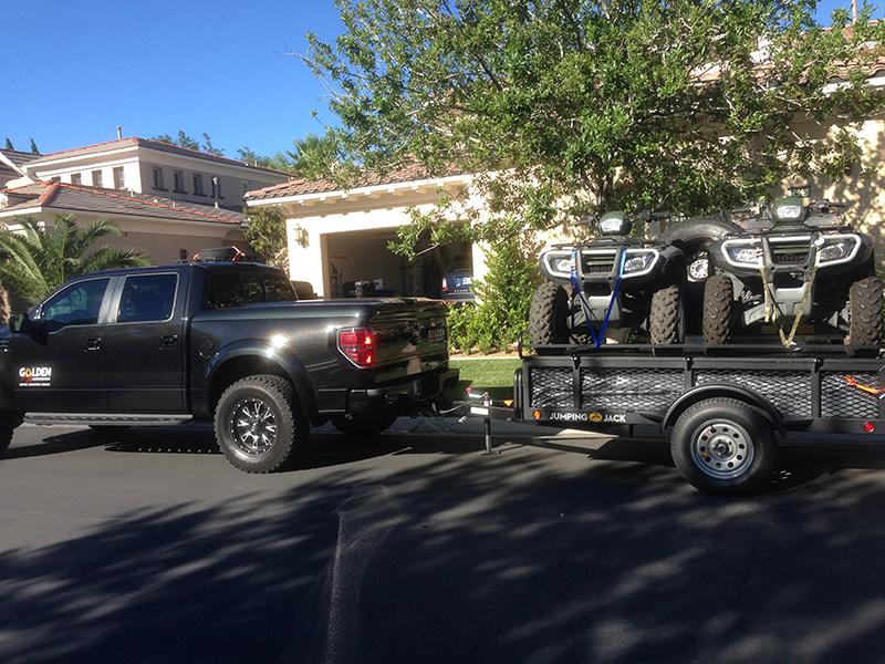Vehicle loaded up