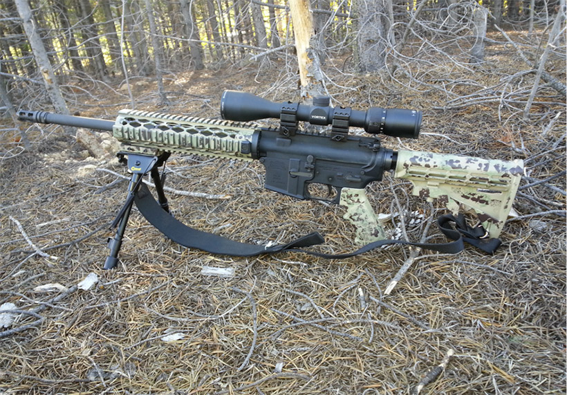 Another camouflage pattern on a rifle