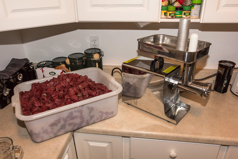 Processing wild game meat