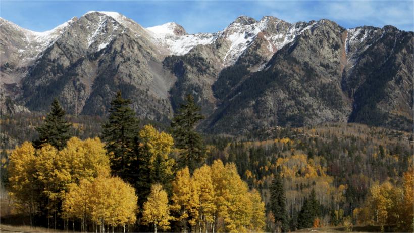 Mountain range scenery
