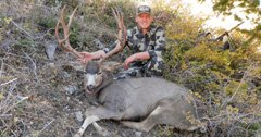 Patience, teamwork and a giant muzzleloader mule deer