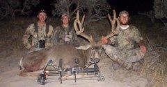 Three weekends, three friends, one giant buck