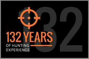 Text: 132 Years of Hunting Experience
